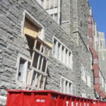 Roll-off dumpster rental on demolition project in West Point, NY