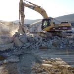 Expert demolition in New York's Hudson Valley.
